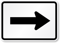 One Direction Arrow Symbol - Route Marker Sign