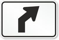 Right or Left Curve Symbol - Route Marker Sign
