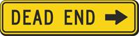 Dead End MUTCD Sign with Arrow