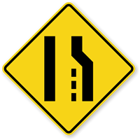 Right Lane Ends (Symbol) - Traffic Sign