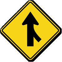 Right Lane Merge (Symbol) - Traffic Sign