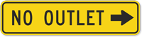 No Outlet MUTCD Sign with Arrow