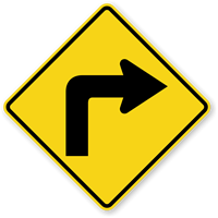 Right Turn Symbol - Traffic Sign