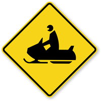 Snowmobile Symbol - Traffic Sign