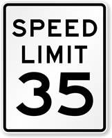 35 Speed Limit Sign