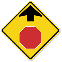 Stop Ahead (Symbol) - Traffic Sign