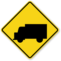 Truck Crossing - Traffic Sign
