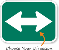 Two-Direction Arrow (Symbol) Sign To Mark Routes