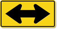 Two Direction (Large Arrow Symbol) - Traffic Sign