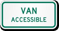 Van Accessible Road Traffic Sign