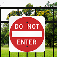 DO NOT ENTER Aluminum Property Signs