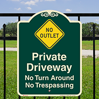 Private Driveway, No Trespassing Signature Sign