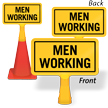 Men Working ConeBoss Sign