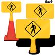 Pedestrian Crossing ConeBoss Sign