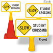 Slow Student Crossing ConeBoss Sign