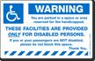 Reserved Handicapped Parking Sticker