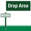 Drop Area Easystake Sign