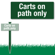Carts On Path Only Easystake Sign