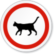 Cat Symbol ISO Circle Sign