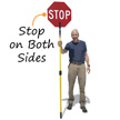 Crossing Guard Standing Pole