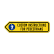 Add Custom Pedestrians Instructions Left Arrow Sign