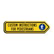 Add Custom Pedestrians Instructions Right Arrow Sign