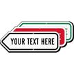 Add Your Custom Text Here Left Arrow Sign
