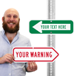 Add Your Custom Warning Right Arrow Sign
