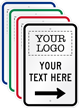 Add Logo And Text With Right Arrow Custom Parking Sign