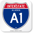 Alaska Interstate A-1 Sign