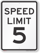 Speed Regulation Sign
