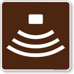 Amphitheater Symbol Sign For Campsite