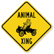 Animal Xing Crossing Sign
