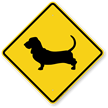 Basset Hound Symbol Guard Dog Sign