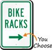 Bike Racks Sign with Arrow