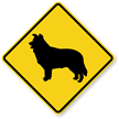 Border Collie Symbol Guard Dog Sign