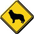 Border Collie Symbol Guard Dog Sign