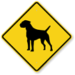 Border Terrier Symbol Guard Dog Sign
