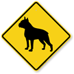 Boston Terrier Symbol Guard Dog Sign