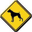 Boxer Symbol Guard Dog Sign