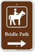 Bridal Path in Right, Campground Guide Sign