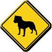 Bull Terrier Symbol Guard Dog Sign