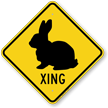 Bunny Xing Road Sign