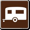 Camping (Trailer) Symbol Sign For Campsite