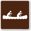 Canoeing Symbol Sign For Campsite