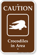 Caution Crocodiles In Area Campground Sign