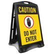 Caution Do Not Enter Sidewalk Sign