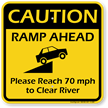Ramp Ahead Sign