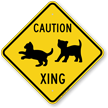 Caution Xing Animal Crossing Sign