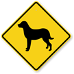Chessie Dog Symbol Crossing Sign